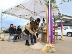 中野町K様邸、地鎮祭でした。